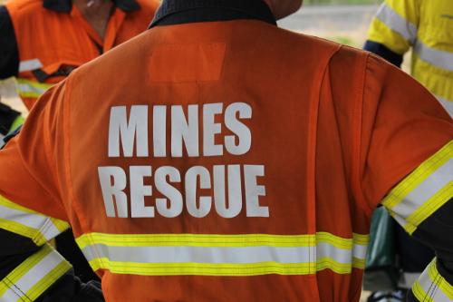 Mines rescue personnel
